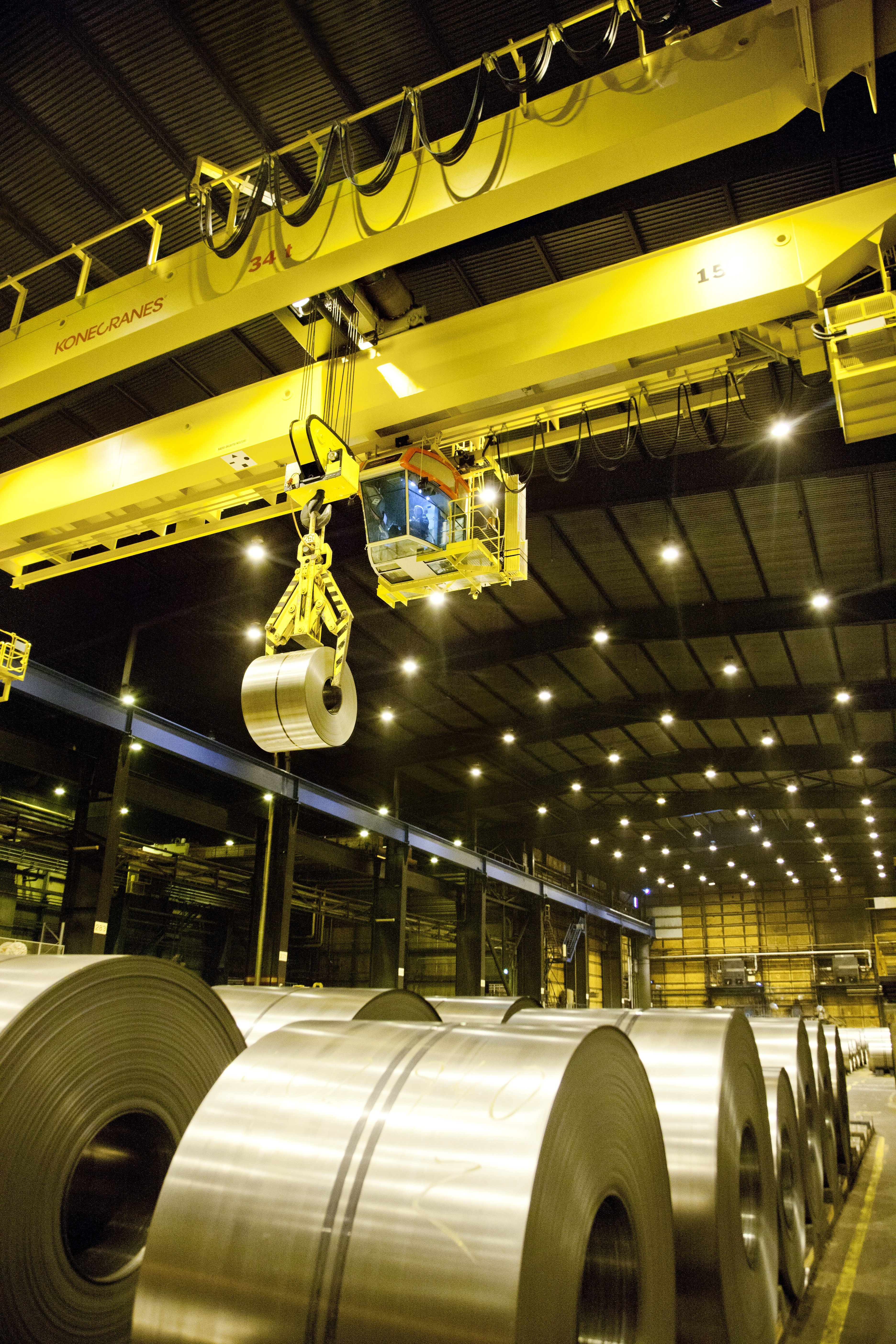 Hot And Heavy Konecranes Manages Steel Industry Challenges With Workstation Cranes Overhead Work Station Crane Ase Systems Coil Handling 1 High Res 10513kb