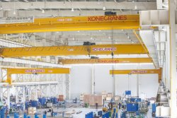Konecranes Industrial Cranes Operating in the Manufacturing Sector.© Konecranes