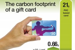 Switching from plastic gift cards to paperboard ones is an easy way for companies to reduce their environmental footprint. © Iggesund<br /><br />