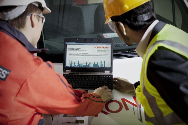 The complete TRUCONNECT range will comprise a range of different services, from regular reports via real time diagnoses and technical support to the input of real time production capacity. © Konecranes