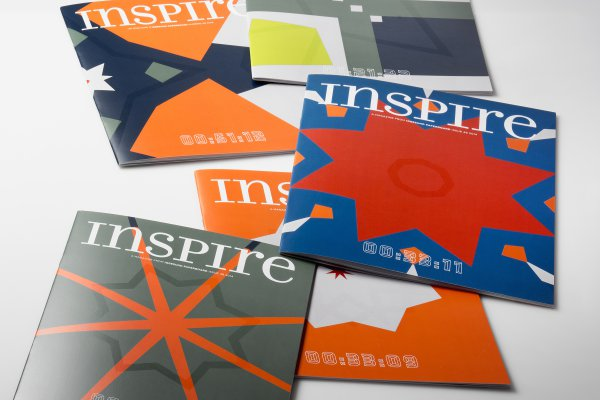 <p>Each and every one of the 22,000 covers of Iggesund Paperboard&rsquo;s inspirational magazine Inspire is unique, with variable printing of colour fields, varnish patterns and time codes. &copy; Iggesund</p>
