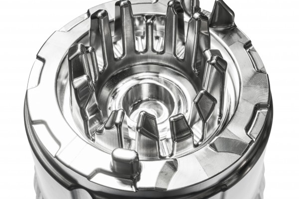 <p>Figure 4 shows a fully machined mould insert with 5 axes with closely arranged and deep cavities</p>