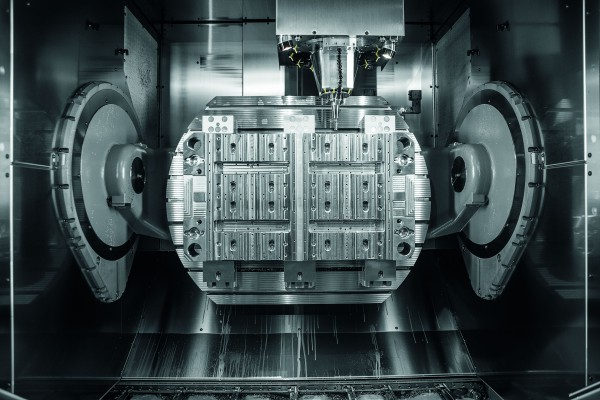 <p>Shows the working range of the high-performance, 5-axis CNC machining centre C 52 U with a 1,150 x 900 mm NC rotary table for large components weighing up to 2,000 kg</p>