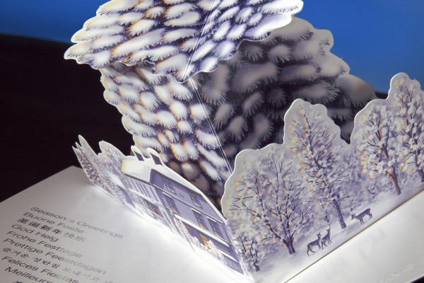 <p>Iggesund's greeting card for 2107 was designed by the German designer and paper artist Peter Dahmen. It is produced on Invercote Creato 260 g/m2. © Iggesund</p>